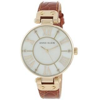 Anne Klein Women's AK-1396MPHY Brown Leather Watch