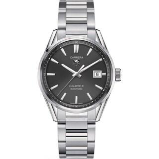 Tag Heuer Men's WAR211C.BA0782 'Carrera Calibre 5' Stainless Steel Watch