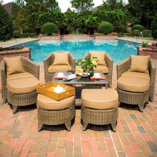 St. Martin 4-person Resin Wicker Patio Deep Seating Set
