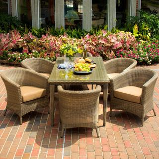 St. Martin 6-person Resin Wicker Patio Dining Set