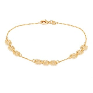 18k Gold-plated Snow Flake Ankle Bracelet