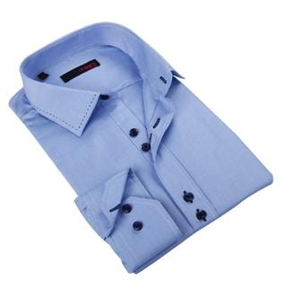 Ungaro Men's Light Blue Cotton Dress Shirt