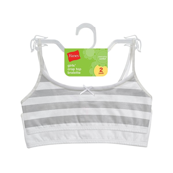 Hanes Girls Cotton Pull-over Bra (Pack of 2)