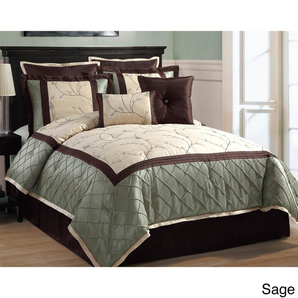 Alexandra 8-piece Comforter Set Queen ( As Is item )