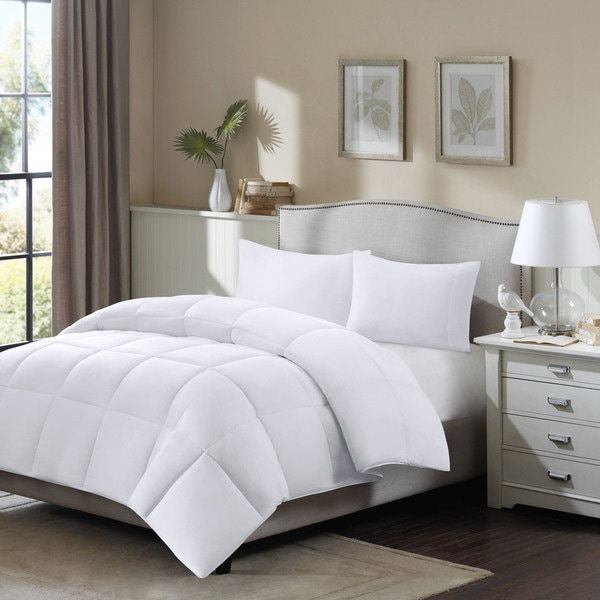 Madison Park Longford Cotton Supreme Dacron and Down Blend Full/ Queen Comforter (As Is Item)