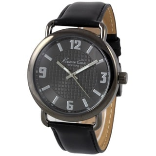 Kenneth Cole Men's 10021748 'Classic' Black Leather Watch