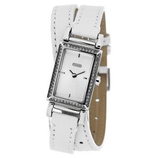 Coach Women's 14501856 'Madison Slim' White Leather Watch
