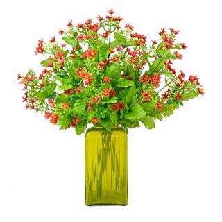 Creative Displays Faux Red Gyspo Floral Vase