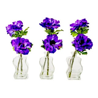 Creative Displays Faux Purple Silk Floral Bouquets (Set of 3)
