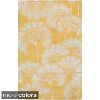 Florence Broadhurst :Hand-Tufted Aleena Floral Rug (8' x 11')