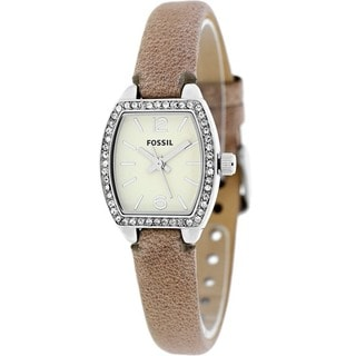 Fossil Women's BQ1212 'Classic' Pink Leather Watch