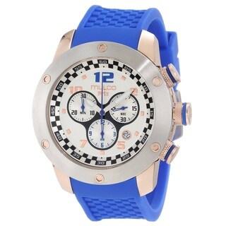 Mulco Men's MW26313041 'Prix' Chronograph Blue Rubber Watch