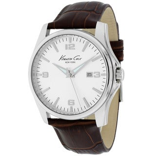 Kenneth Cole Men's KC1866KCP New York Round Brown Leather Strap Watch