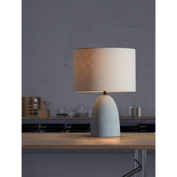 Vigor Beige and Concrete Grey Table Lamp