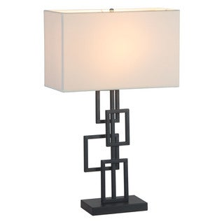 Step White and Black Table Lamp