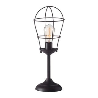 Industrial Cage Metal Table Lamp 17536191 Overstock
