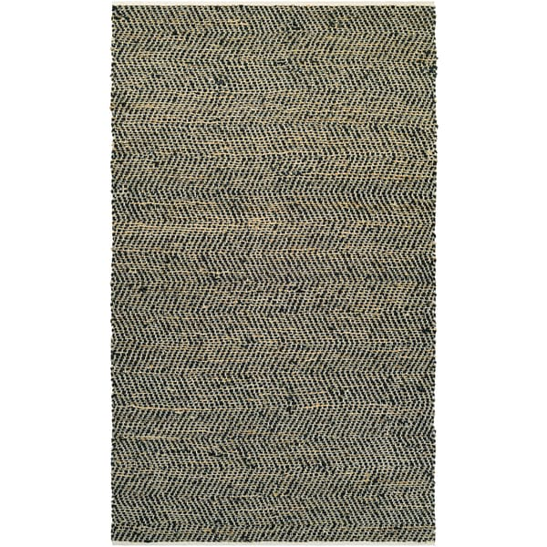NATURES ELEMENTS Ice/Black 5' x 8' Rug