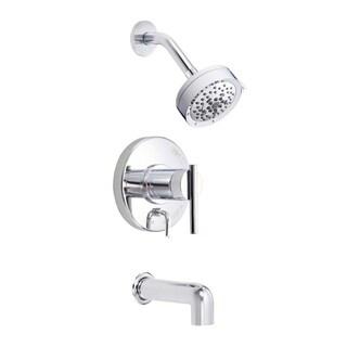 Danze Parma Tub and D510058T Polished Chrome Shower Faucet