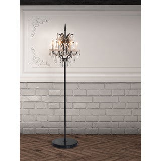 Phoenix Distressed Black Floor Lamp