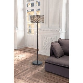 Chandler Distressed Black Floor Lamp