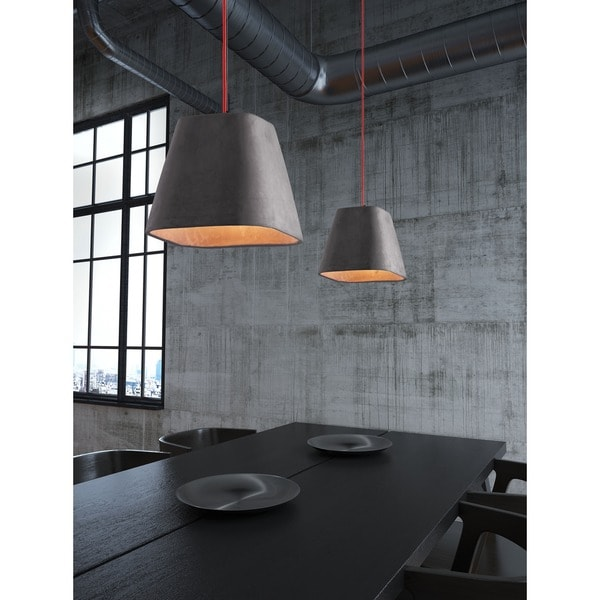Promise Concrete Grey Ceiling Lamp