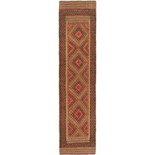 Ecarpetgallery Tajik Caucasian Camel, Dark Gray Wool Geometric Rug Runner (2'0 x 8'0)