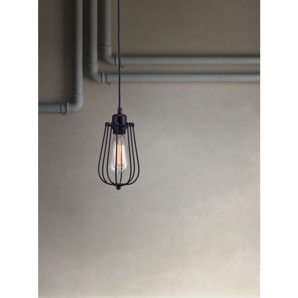 Napier Distressed Black Ceiling Lamp