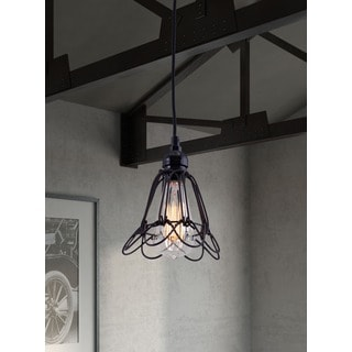 Hastings Distressed Black Ceiling Lamp