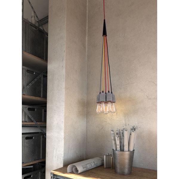 Faith Concrete Grey Ceiling Lamp