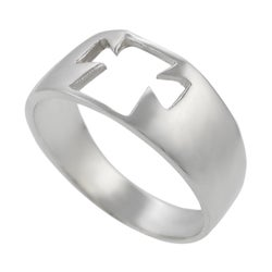 Tressa Sterling Silver Cut-out Cross Ring