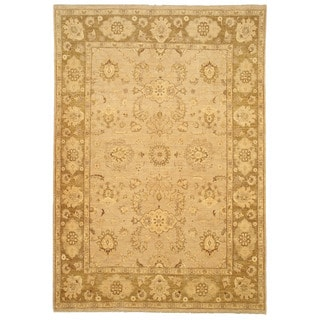 EORC 9447 Camel Hand-knotted Wool Peshawar Area Rug (8'7 x 12')