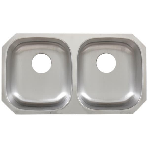 Phoenix 29-1/4 Inch Stainless Steel 18 Gauge Undermount Double Bowl Kitchen Sink
