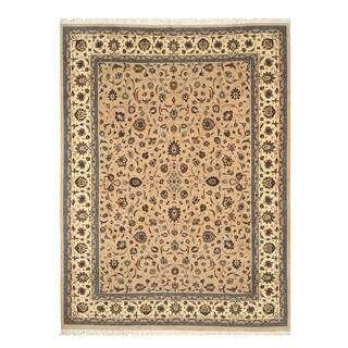 EORC 16267 Camel Hand-knotted Wool Persian Area Rug (9' x 12')