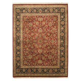 EORC 8999 Red Hand-knotted Wool Jaipur Area Rug (9'1 x 12'1)