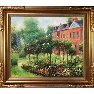 Pierre-Auguste Renoir 'The Garden at Fontenay' Hand Painted Framed Canvas Art