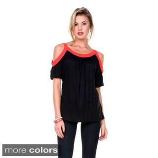Stanzino Women's Open Shoulder Blouse