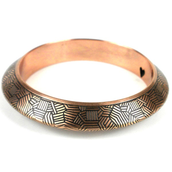 Geometric Coppertone Bangle - Mata Traders (India)
