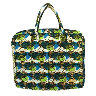 Butterfly Kitenge Fabric Laptop Case (Rwanda)