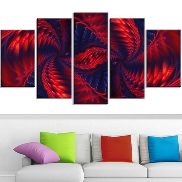 Design Art 'Kaleidoscope ' Canvas Art Print