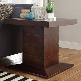 Calvin Dark Mahogany Pedestal End Table