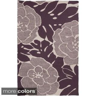 Florence Broadhurst : Hand-Woven Alijah Floral Wool Rug (2' x 3')