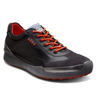 Ecco Men's Biom Hybrid Black/ Fire Golf Shoes