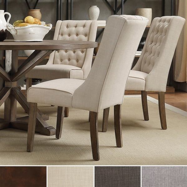 signal hills evelyn tufted wingback hostess chairs set of 2