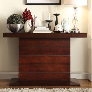 Calvin Dark Mahogany Pedestal Sofa Table