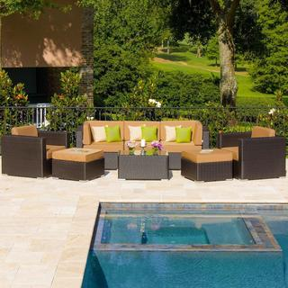 Avery Island 8-piece Resin Wicker Patio Conversation Set