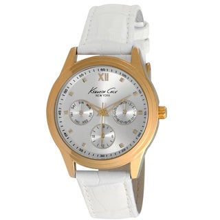 Kenneth Cole Women's 10019778 'Classic' Chronograph White Leather Watch