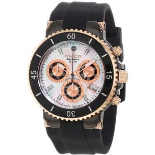 Mulco Women's MW370604021 'Blue Marine' Chronograph Black Rubber Watch