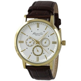 Kenneth Cole Men's 10019436 'Classic' Chronograph Brown Leather Watch