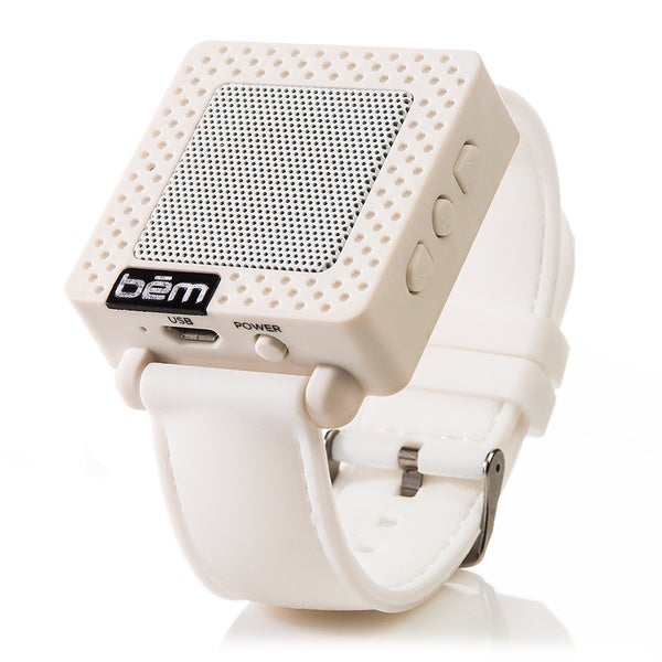 Bem Bluetooth Speaker Watch - Wireless Speaker - White