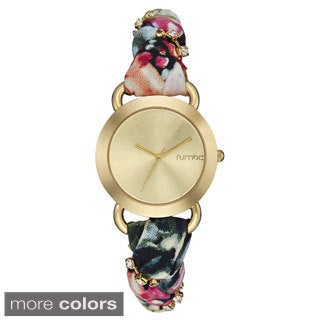 RumbaTime Women's NoLita Color Fabric Watch